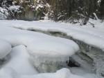 река Аккем зимой