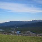 Вид с горы в сторону Белухи