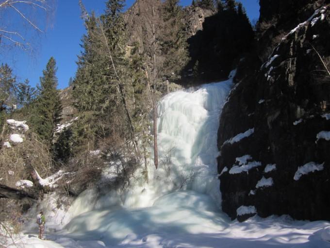 Ледопад на реке Аккем