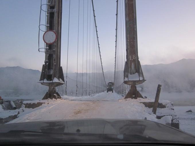 Мост через Катунь в селе Тюнгур